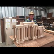 John McMahon with Turned Bookcase Ends