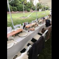 Table Runners in use